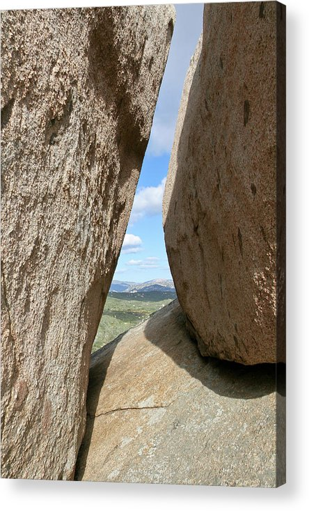 Rocks Acrylic Print featuring the photograph Rocks Magritte by Peter Dyke