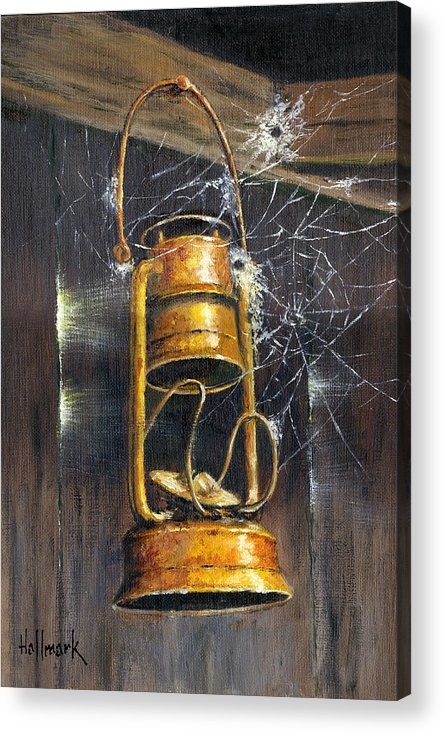 Bob Hallmark Acrylic Print featuring the painting Rusty Lantern by Bob Hallmark