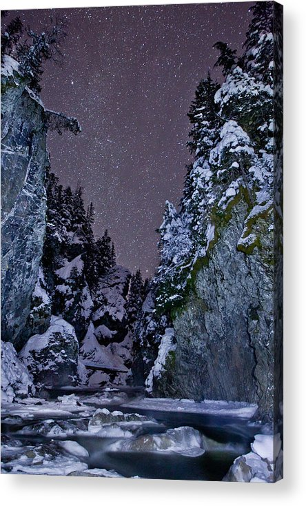 Stars Acrylic Print featuring the photograph Starry Creek by Brandon Broderick