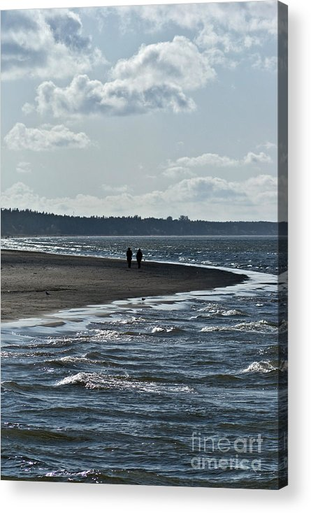 Waves Acrylic Print featuring the photograph two by Vadim Grabbe