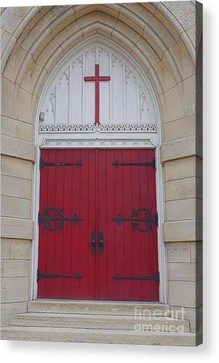 Church Acrylic Print featuring the photograph Welcome by Lindsay Felty
