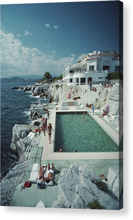 People Acrylic Print featuring the photograph Hotel Du Cap Eden-roc by Slim Aarons