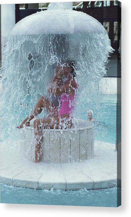 Baden-baden Acrylic Print featuring the photograph Caracalla Therme by Slim Aarons
