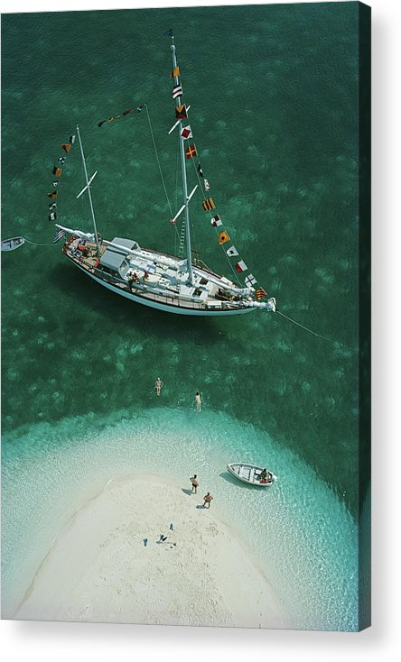 People Acrylic Print featuring the photograph Exuma Holiday by Slim Aarons