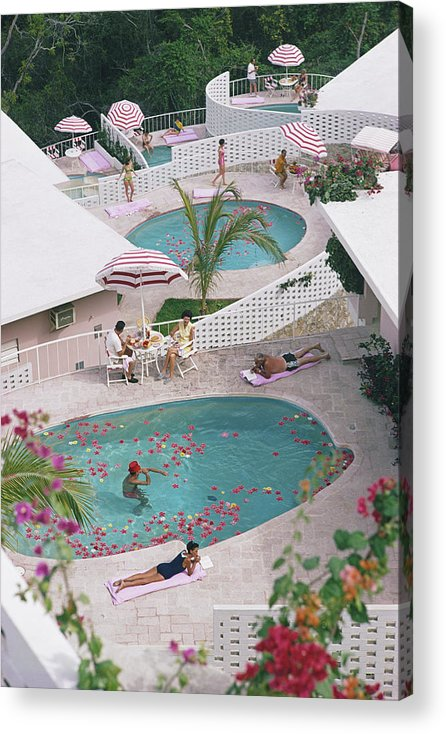 Apartment Acrylic Print featuring the photograph Las Brisas Hotel by Slim Aarons