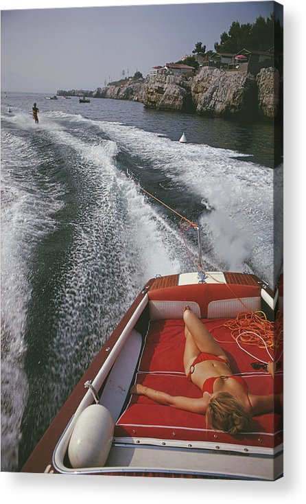 People Acrylic Print featuring the photograph Leisure In Antibes by Slim Aarons