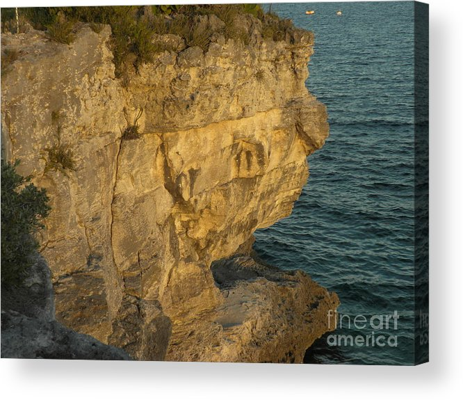 Rocks Acrylic Print featuring the photograph Sphinx...bahamian Natural Landscpe by Hilton Woodside