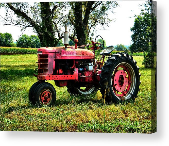 Antique Acrylic Print featuring the photograph Antique Tractor by Julie Dant
