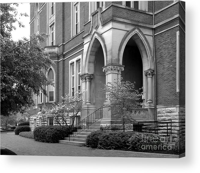 Depauw University Acrylic Print featuring the photograph De Pauw University East College by University Icons