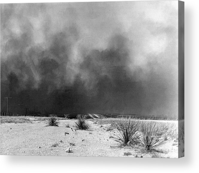 1936 Acrylic Print featuring the photograph Drought Dust Storm, 1936 by Granger