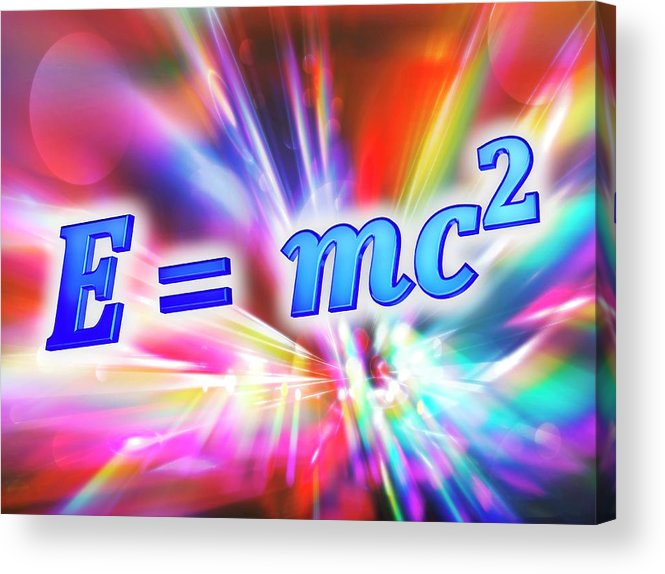 Equation Acrylic Print featuring the photograph Einstein's Mass-energy Equation by Alfred Pasieka