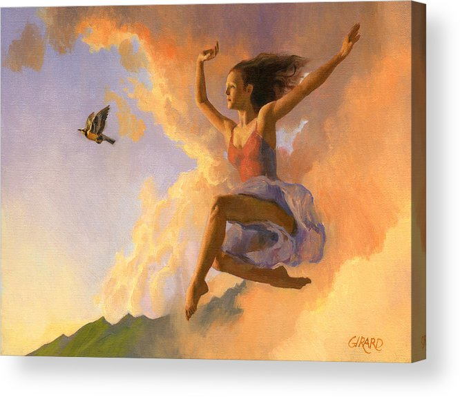 Dance Acrylic Print featuring the painting Inspiration by Francois Girard