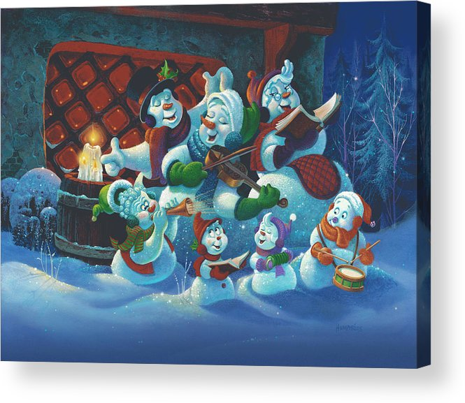 Michael Humphries Acrylic Print featuring the painting Joy To The World by Michael Humphries