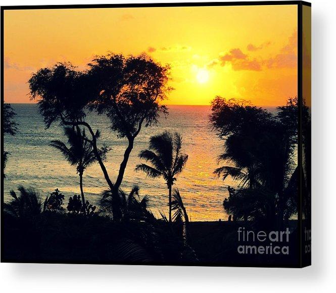 Maui Acrylic Print featuring the photograph Maui Sunset by Leslie Hunziker