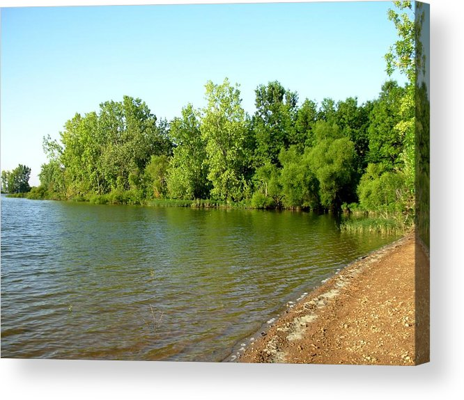Lake Acrylic Print featuring the photograph 1234c by Kimberlie Gerner