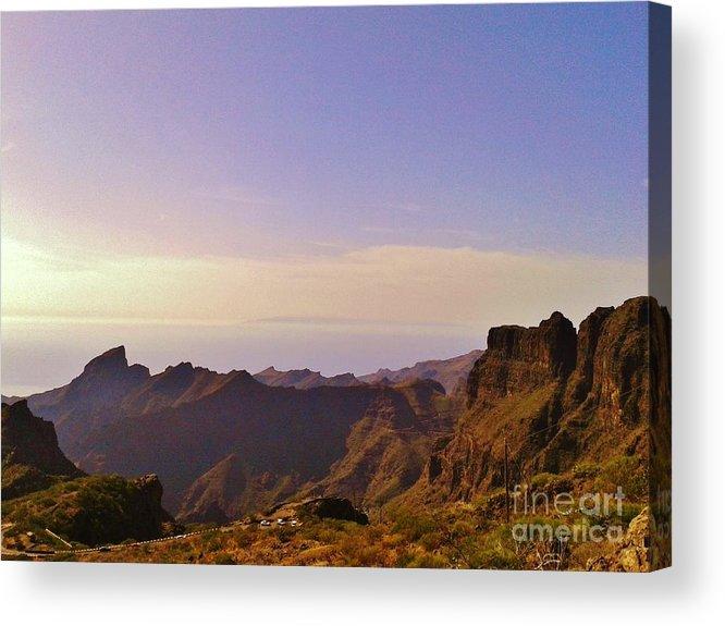 Amazing Colors Acrylic Print featuring the photograph Landscape Amazing Colors Mountains by Bozena Simeth