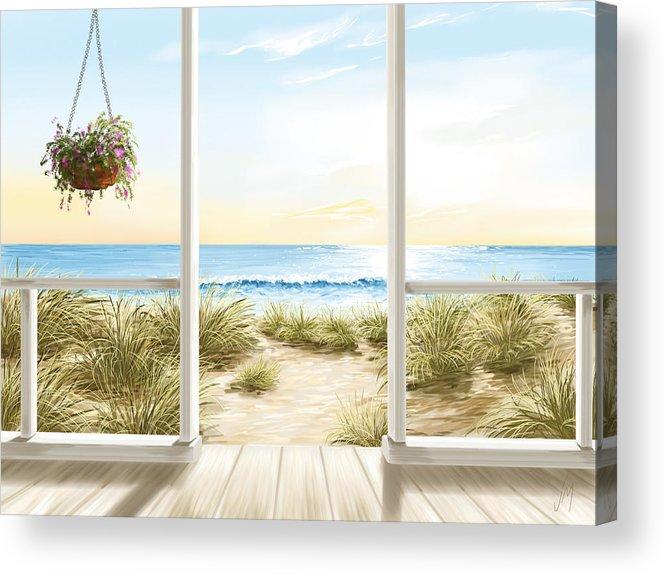 Beach house acrylic print by veronica minozzi for Beach house prints