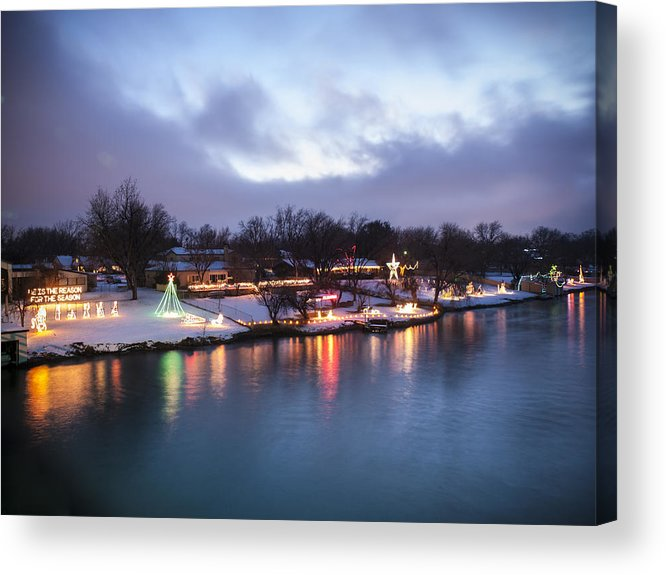 American Acrylic Print featuring the photograph Christmas Reflections by Ralph Brannan