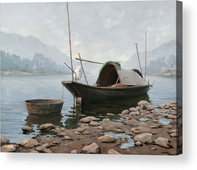 Hand-painted On Canvas Oil Painting Acrylic Print featuring the mixed media Oil Painting by Youme Art
