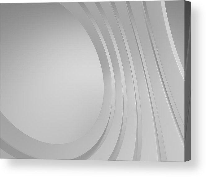Arch Acrylic Print featuring the photograph 3d Blank Abstract Architecture by Me4o