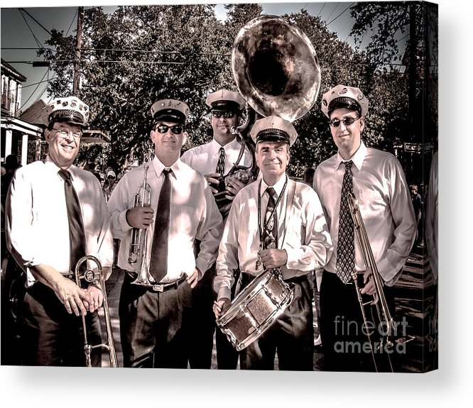 Band Acrylic Print featuring the photograph 3rd Line Brass Band by Renee Barnes