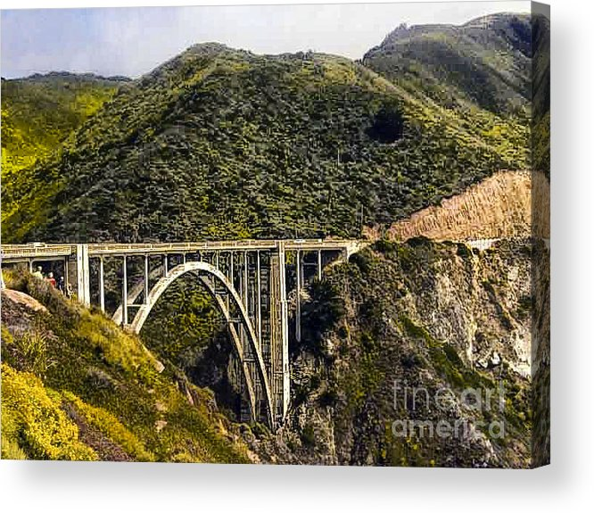 Print Acrylic Print featuring the photograph 604 Det Big Sur Bridge by Chris Berry