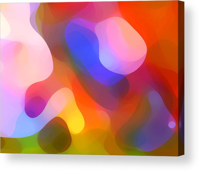 Abstract Art Acrylic Print featuring the painting Abstract Dappled Sunlight by Amy Vangsgard