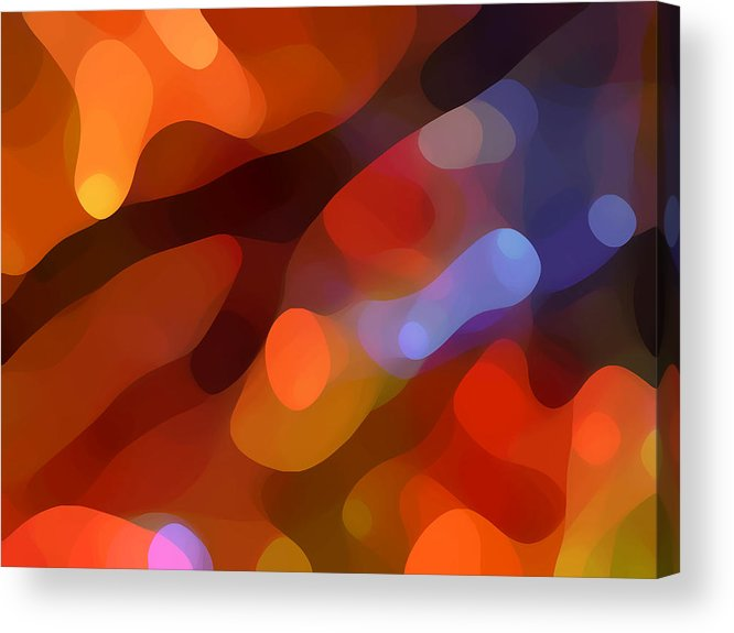 Abstract Art Acrylic Print featuring the painting Abstract Fall Light by Amy Vangsgard
