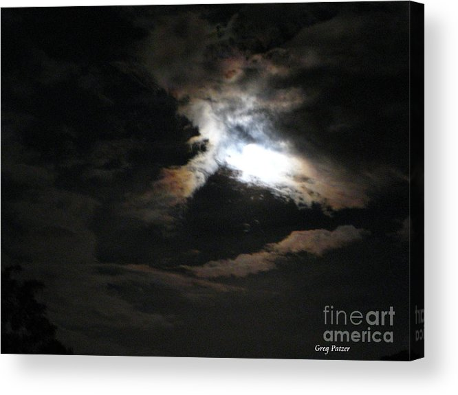 Patzer Acrylic Print featuring the photograph Abstract Moon by Greg Patzer