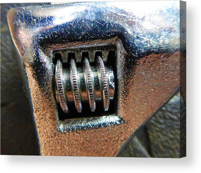 Hammer Acrylic Print featuring the photograph Adjustable Wrench by Laurie Tsemak