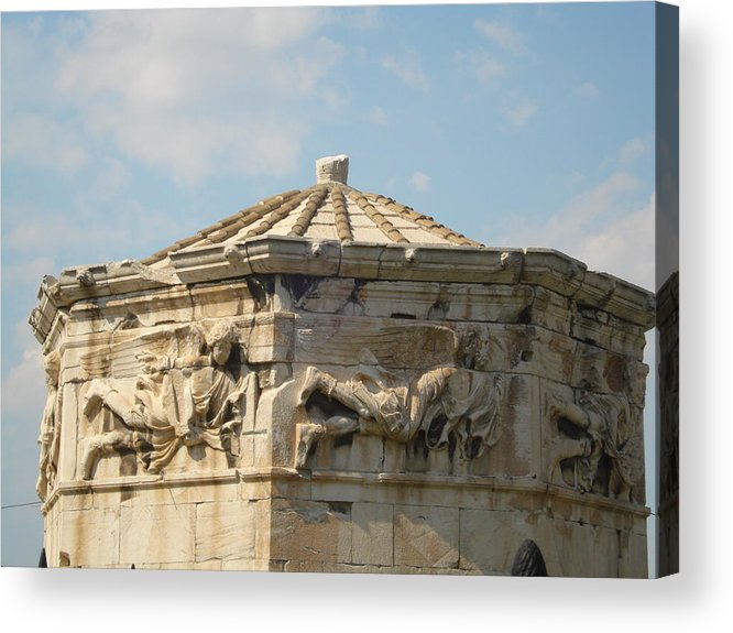 Pláka Is The Old Historical Neighborhood Of Athens Acrylic Print featuring the sculpture Aerides by Greek View