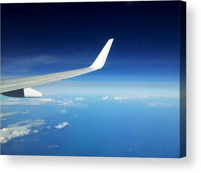 Airplane Acrylic Print featuring the photograph Airflight by Elizabeth Hardie