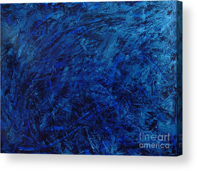 Abstract Acrylic Print featuring the painting Alans Call by Dean Triolo