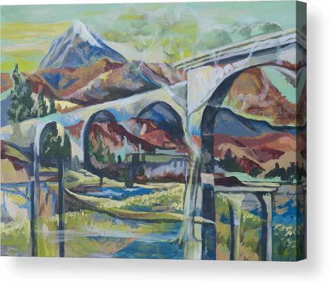 Altitude Acrylic Print featuring the painting Altitude by Tyler Auman