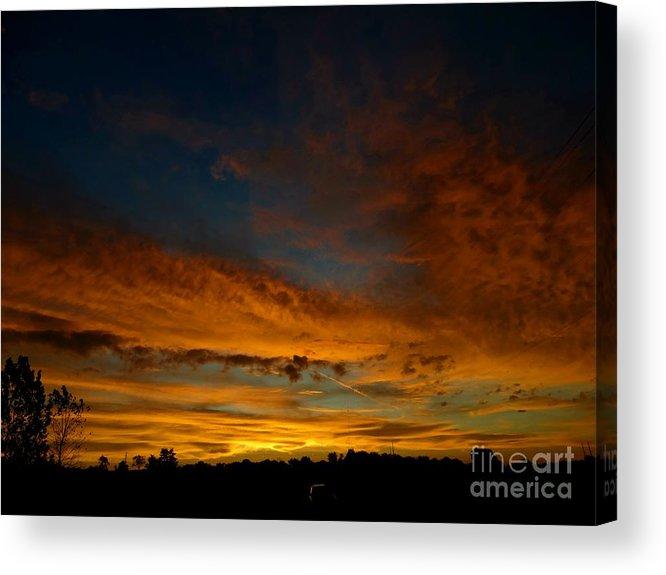 Sunrise Acrylic Print featuring the photograph Amber Skys Six by Scott B Bennett