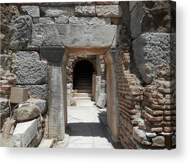 Ephesus Acrylic Print featuring the photograph Ancient Arch by Pema Hou