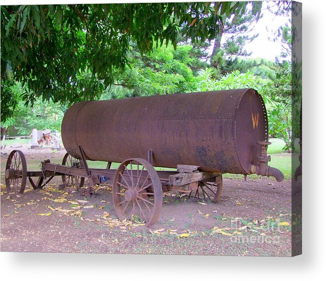 Water Tank Acrylic Print featuring the photograph Antique Water Tank - No 2 by Mary Deal