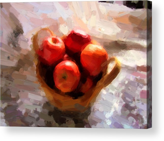 Apples Acrylic Print featuring the photograph Apples On The Table by Shannon Story