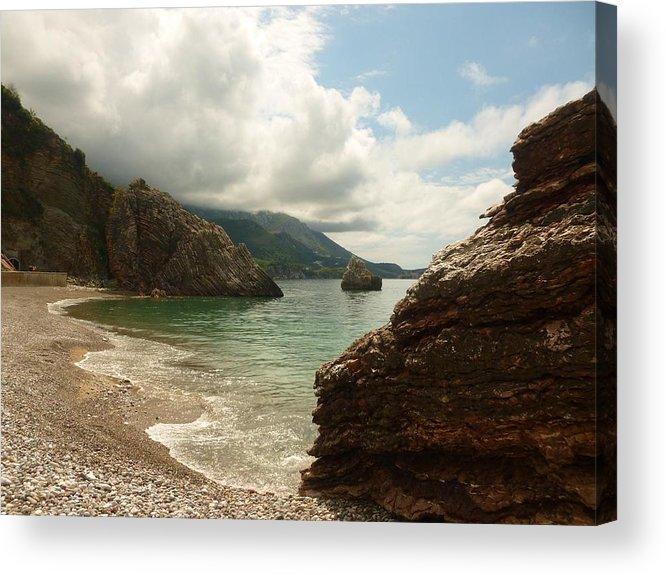 Sea Acrylic Print featuring the photograph At The Cove by Rumiana Nikolova