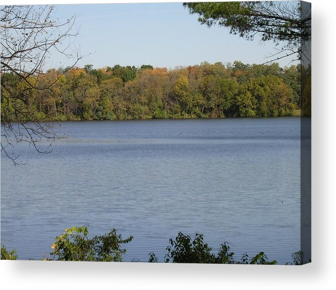 Lake Acrylic Print featuring the photograph Autumn Lakeside by Dusty Reed