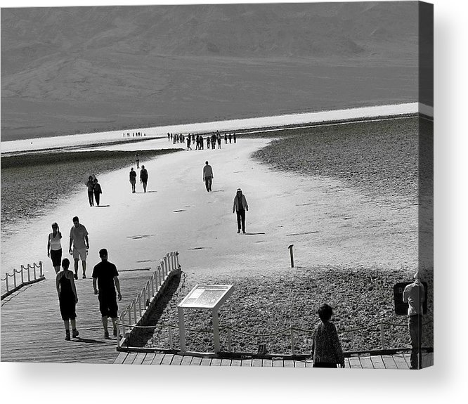Death Valley Acrylic Print featuring the photograph Badwater by Barbara Gross