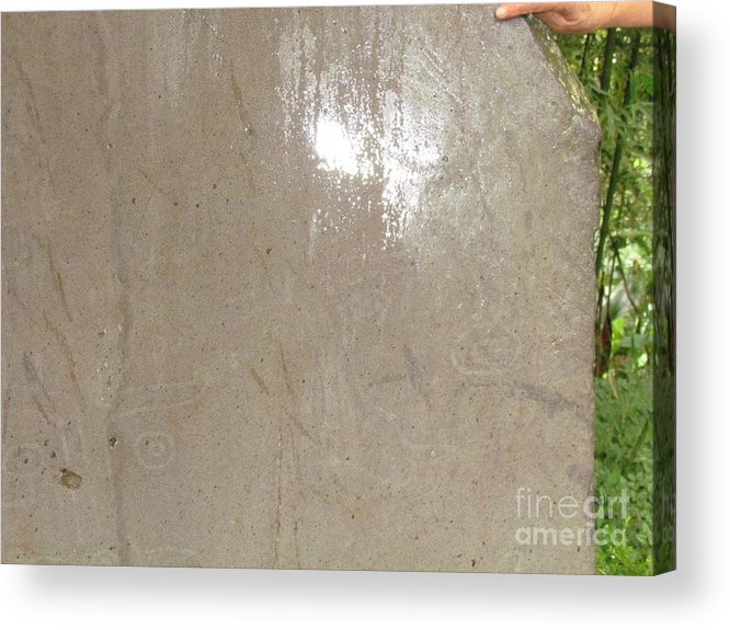 Panama Acrylic Print featuring the photograph Bariiles Stone Carving by Ted Pollard