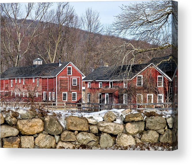 Barns Acrylic Print featuring the photograph Barns In Winter by Jim DeLillo
