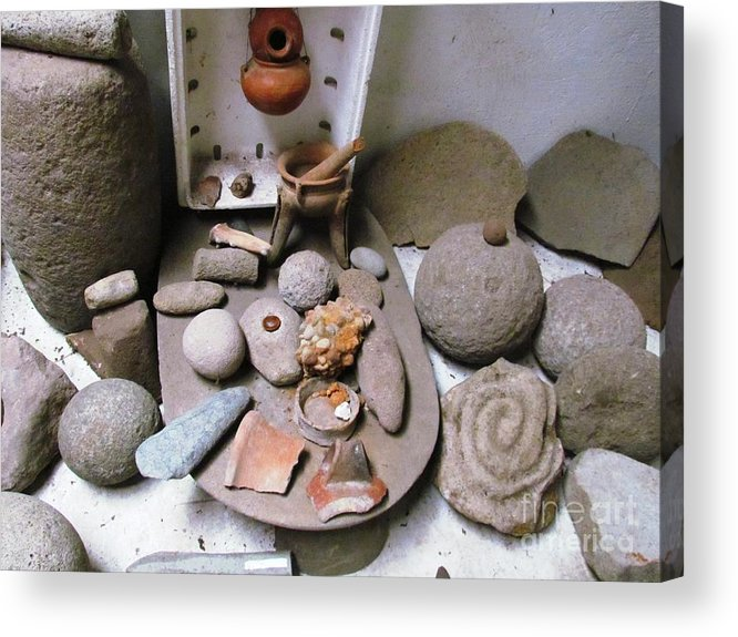 Panama Acrylic Print featuring the photograph Barriles Indian Relics by Ted Pollard