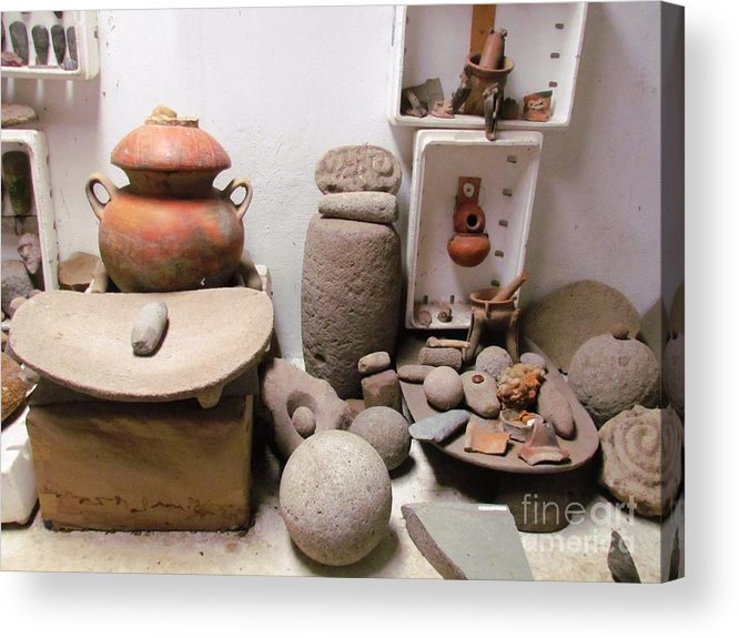Panama Acrylic Print featuring the photograph Barriles Pottery Indian by Ted Pollard