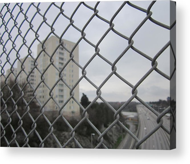 Greayweather Acrylic Print featuring the photograph Behind Bars by Rosita Larsson