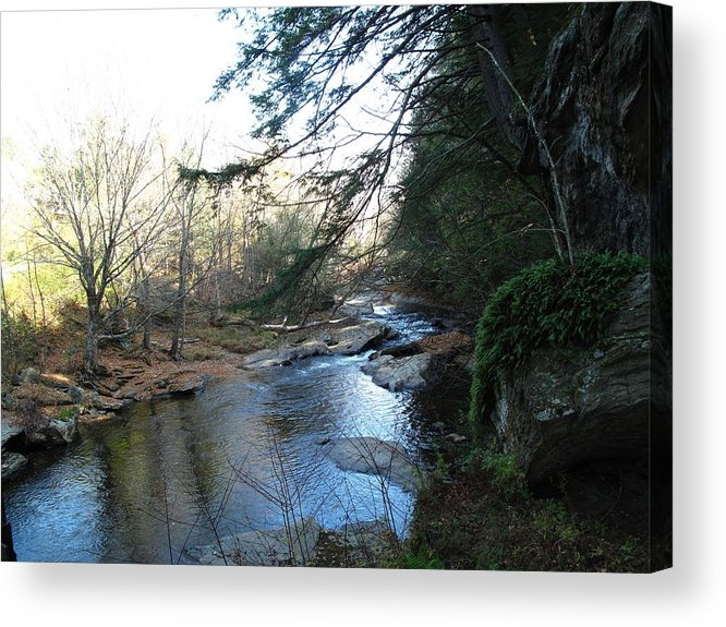 River Acrylic Print featuring the photograph Belvidere Junction Stream Vermont by Barbara McDevitt