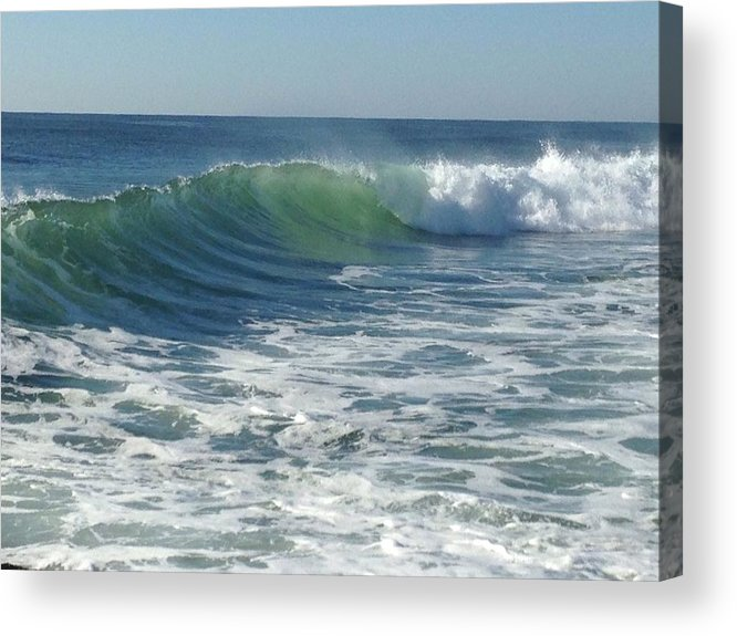 East Coast Surfing Acrylic Print featuring the photograph Big Surf by Shannon OBrien