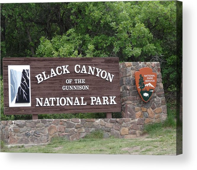 Black Canyon Of The Gunnison National Park Acrylic Print featuring the photograph Black Canyon Of The Gunnison National Park by Dan Sproul