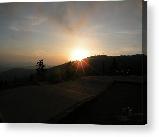 Blue Ridge Sunset Acrylic Print featuring the photograph Blue Ridge Sunset - Going Down by Becky Erickson